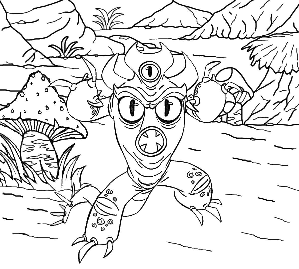 Woods Coloring Pages