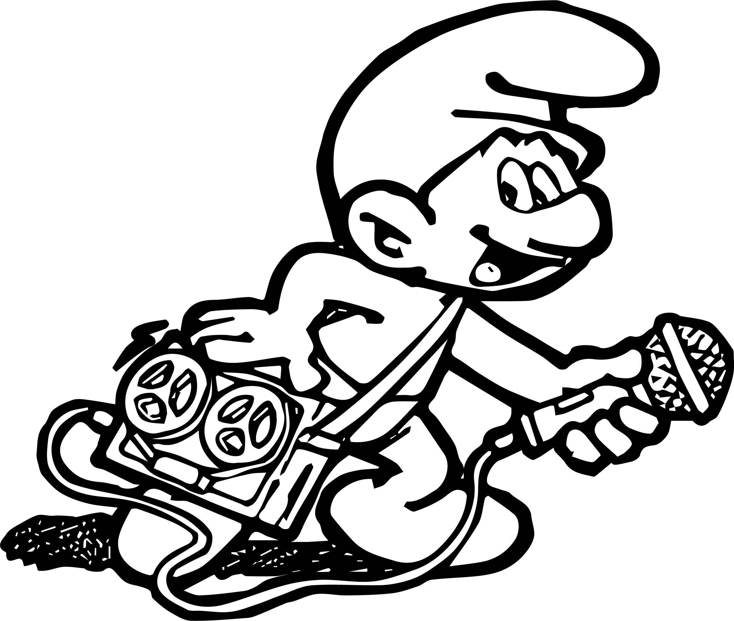 2379x2013 Incredible Smurf Coloring Page Music Player Wecoloringpage Pic