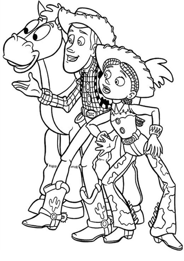 Woody Toy Story Coloring Page