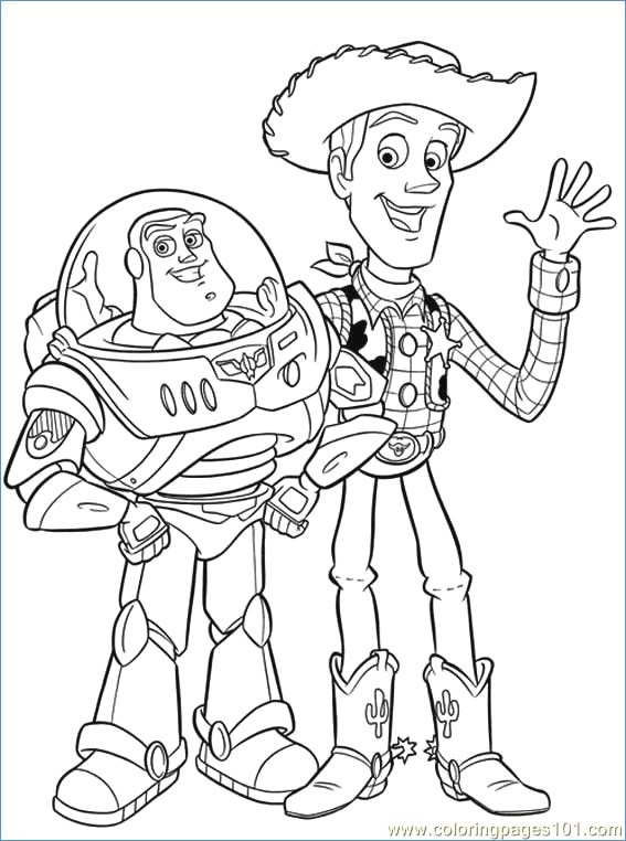 567x762 Jessie And Woody Sherif Toy Story Coloring Pages