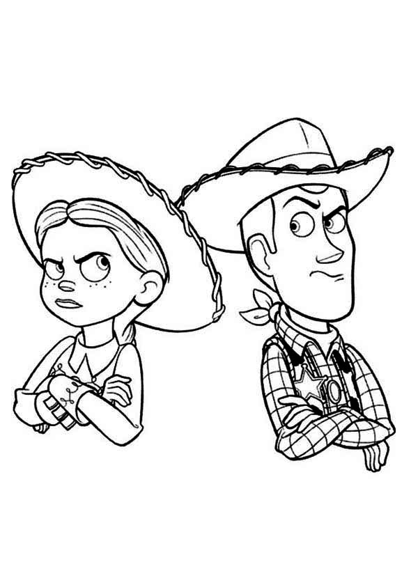 600x840 Jessie And Woody Still Mad Free Coloring Page Disney, Kids, Toy
