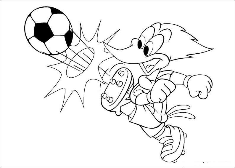 794x567 Woody Woodpecker Cartoon Coloring Pages