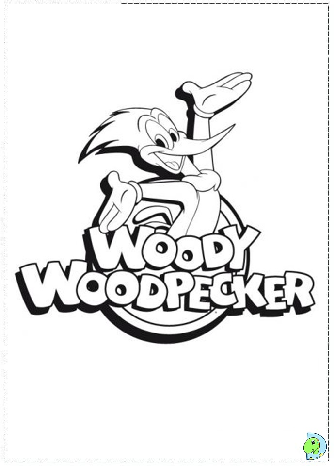 691x960 Woody Woodpecker Coloring Pages