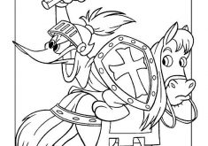 235x165 Woody Woodpecker Coloring Page