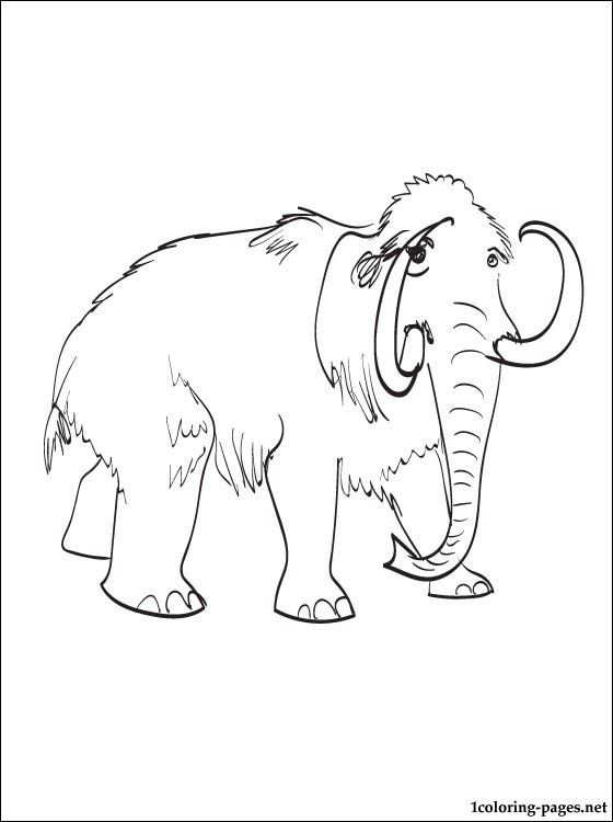 560x750 Mammoth Coloring And Printable Page Coloring Pages