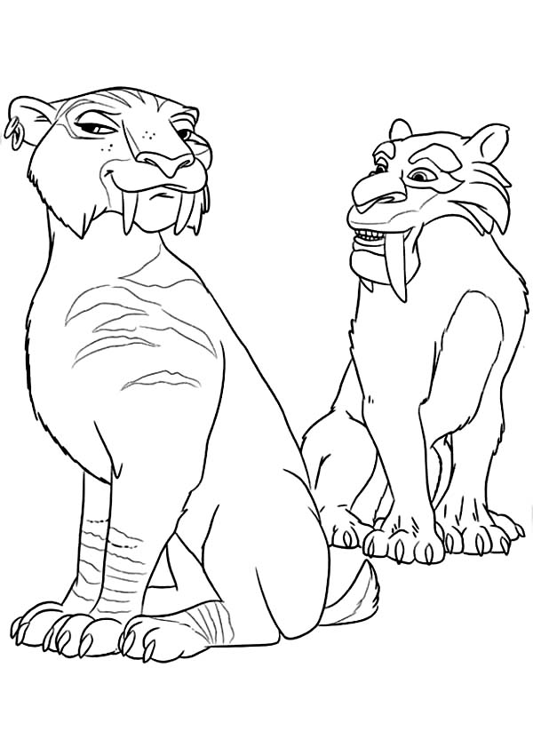 600x841 The Animals Of The Ice Age Diego Falling In Love Coloring Pages