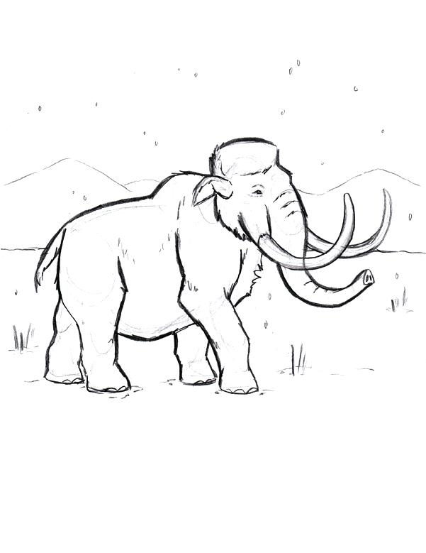 601x779 Wooly Mammoth Coloring Page Colonies Coloring Pages Colonies Map