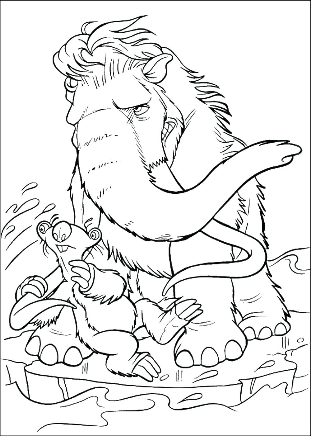 1000x1400 Coloring Pages Ice Age Coloring Pages Woolly Mammoth Shira Ice
