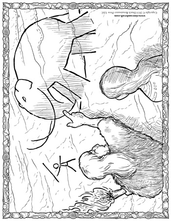 350x453 Cave Man Coloring Page