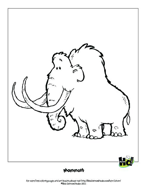 495x640 Wooly Mammoth Coloring Page Blacknd White Happy Mammoth Over