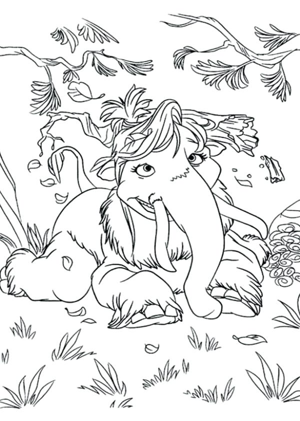 600x841 Wooly Mammoth Coloring Page The Animals Of The Ice Age Coloring