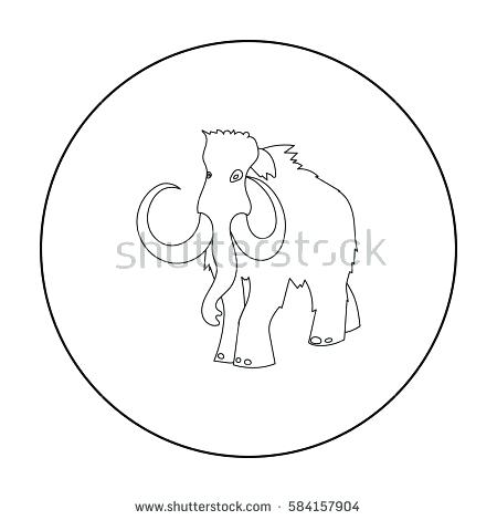 450x470 Wooly Mammoth Coloring Page Woolly Mammoth Icon In Outline Style