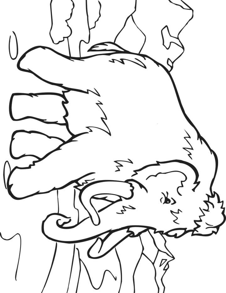 720x932 Wooly Mammoth Coloring Page For Kids