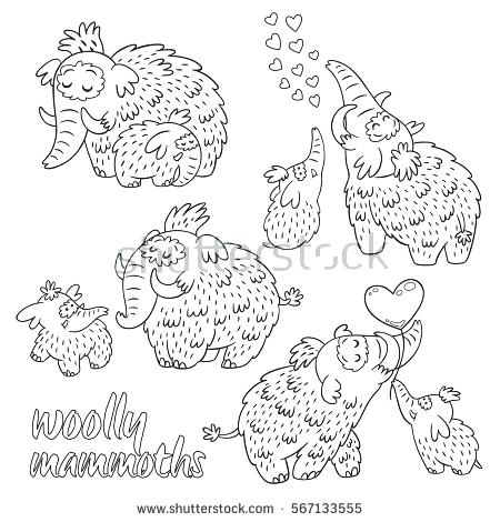 450x470 Wooly Mammoth Colouring Pages Mammoth Coloring Page Maze Coloring