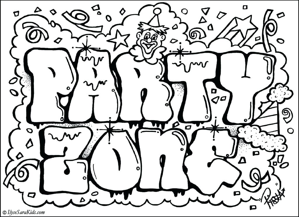 1024x745 Coloring Pages For Grown Ups Word Coloring Pages Party Word