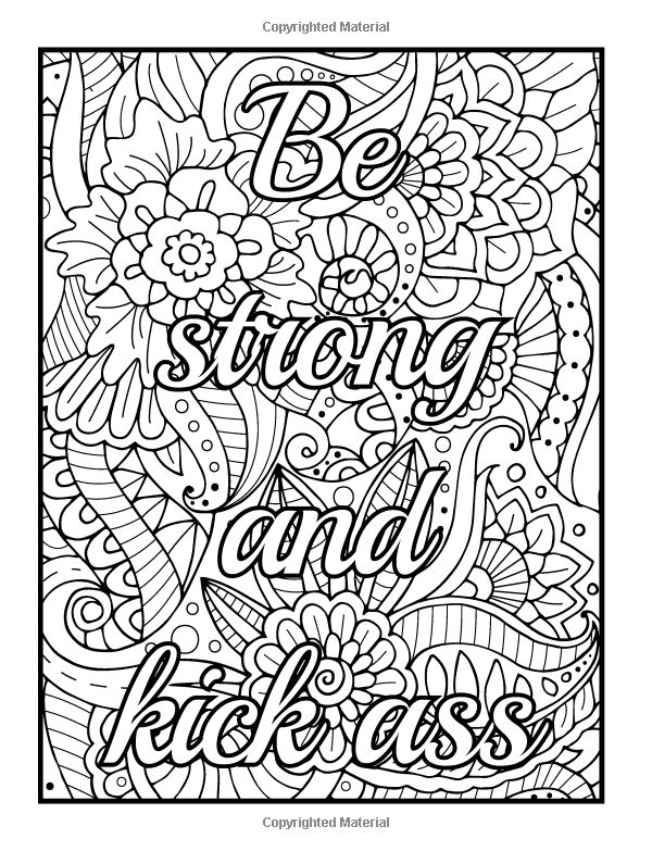 Word Coloring Pages For Adults