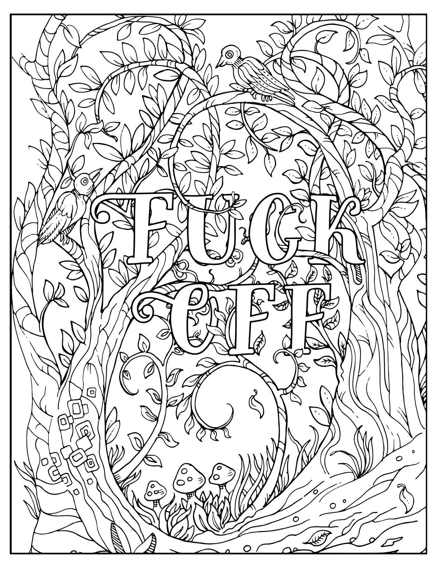 It is an image of Free Printable Cuss Word Coloring Pages with stress relief depression