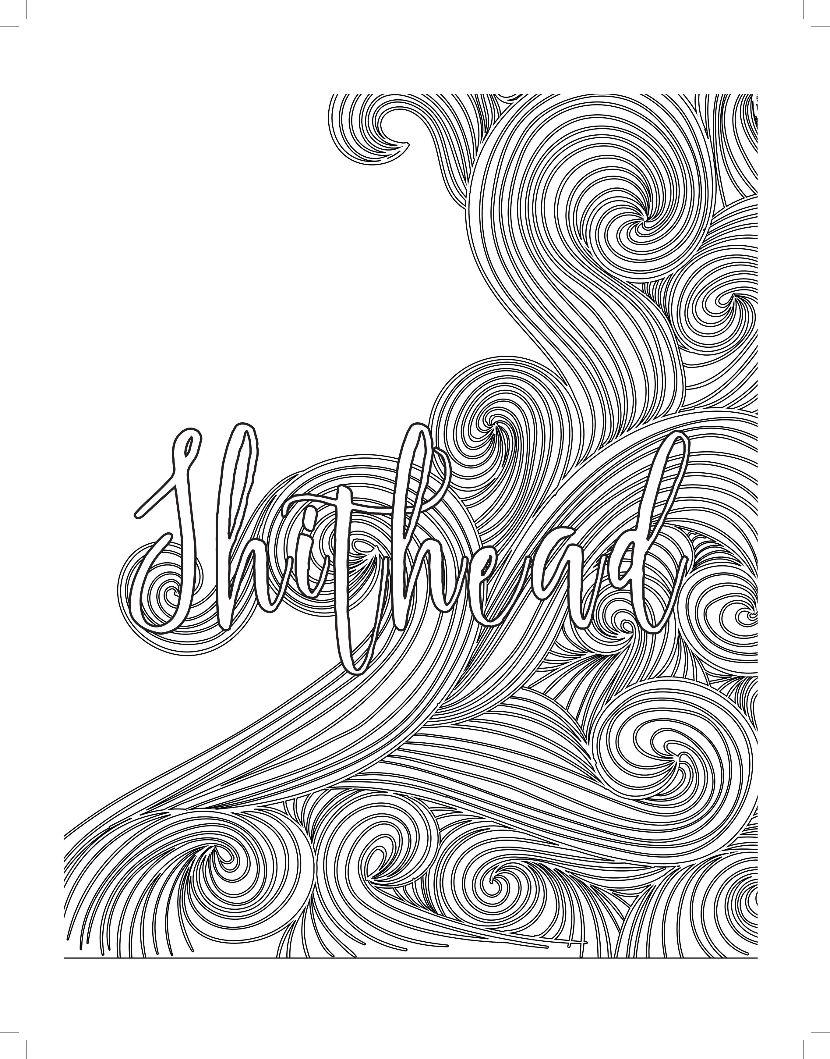 Word Coloring Pages For Adults At Getdrawings Com Free For