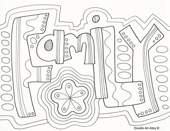 564x435 Families Are Forever Coloring Pages Adult Coloring