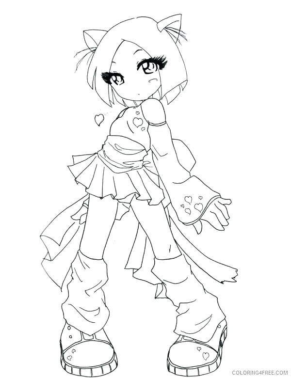 600x780 Girl Coloring Page