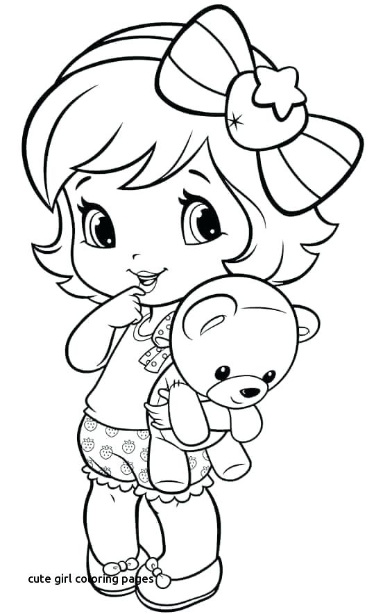 552x883 Cute Girl Coloring Pages Coloring Pages Little Girl For Cute Girl