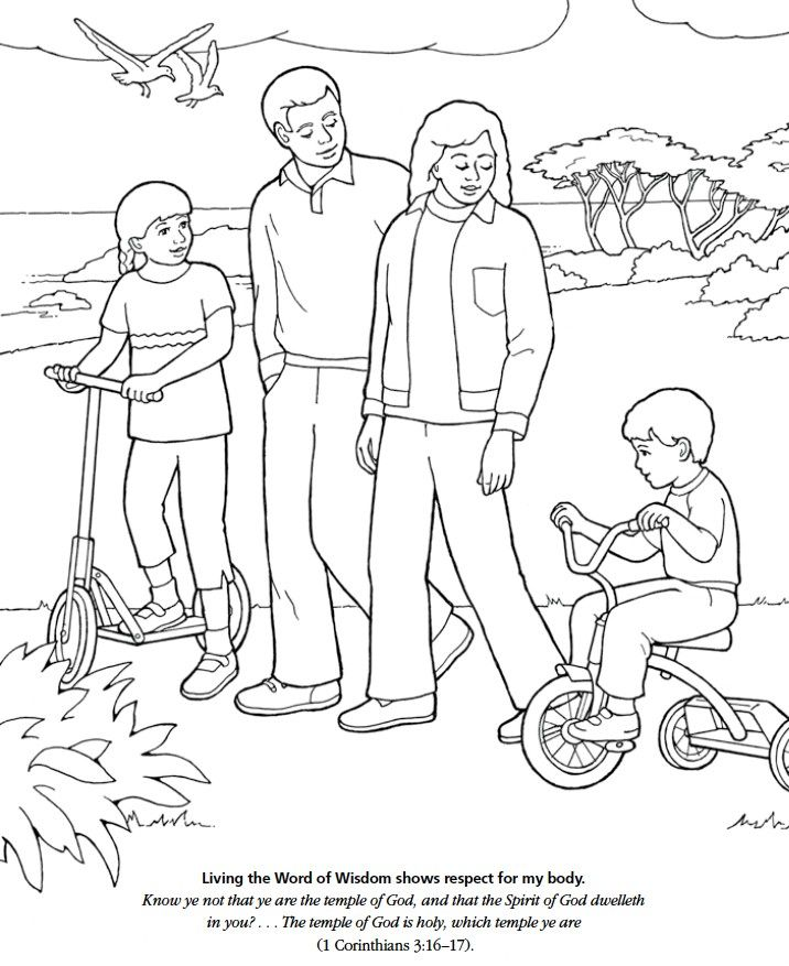 Word Of Wisdom Coloring Page At Getdrawings Com Free For Personal