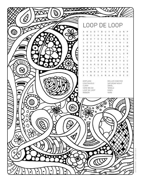 495x640 Loopdeloop Word Search Colouring Page Loopdeloop Brain Games