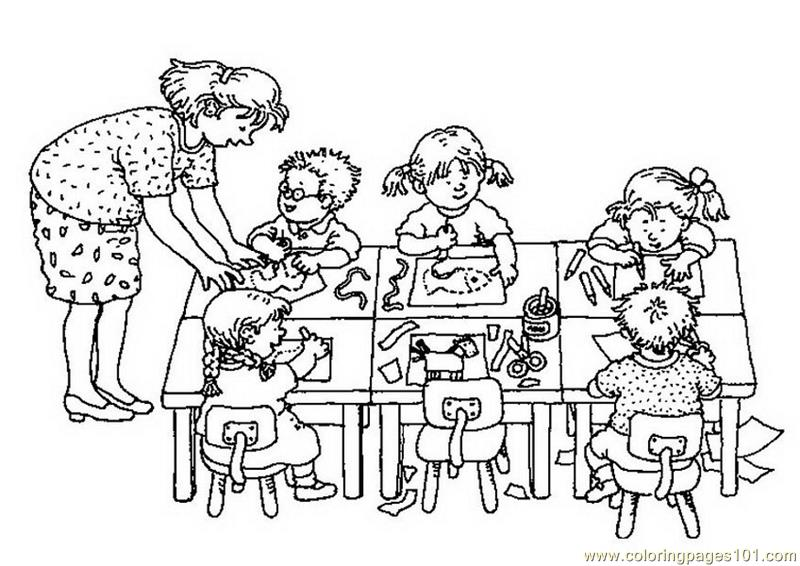 800x566 Doing Work Coloring Page