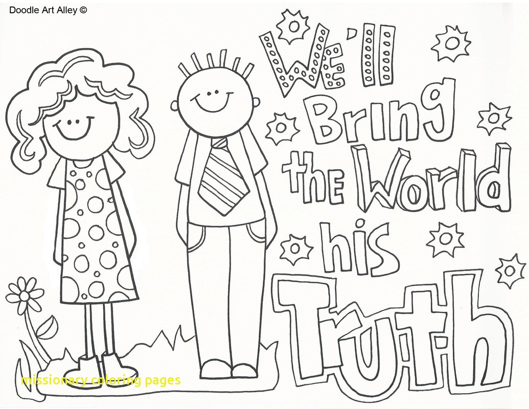 1035x800 Missionary Coloring Pages With Missionary Work Religious Doodles