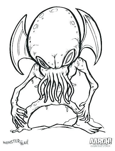 379x500 Scary Monster Coloring Pages Scary Monster Coloring Pages Creepy