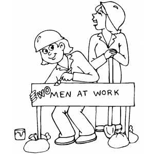 300x300 Woman At Work Coloring Page