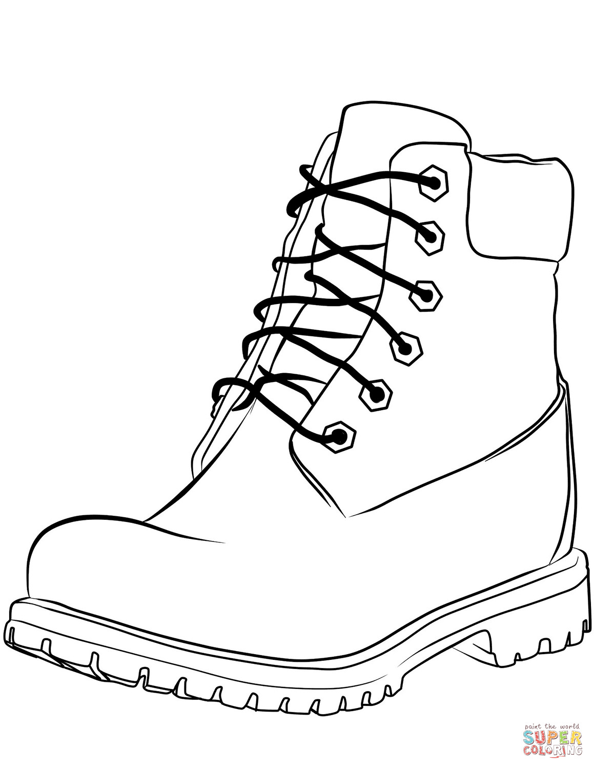 1159x1500 Work Boot Coloring Page Free Printable Pages At Acpra