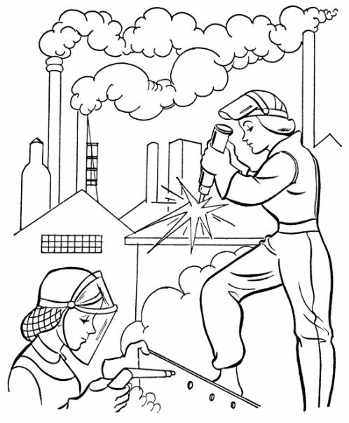 Workers Coloring Pages