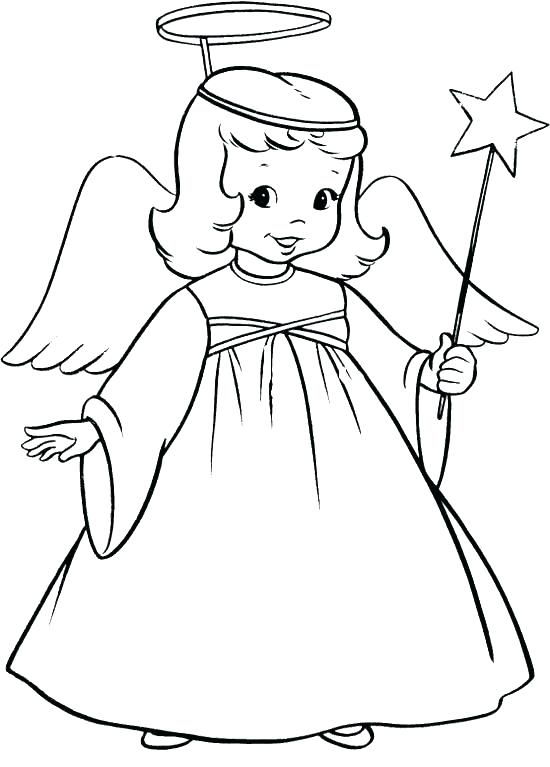 550x767 Coloring Page Angel