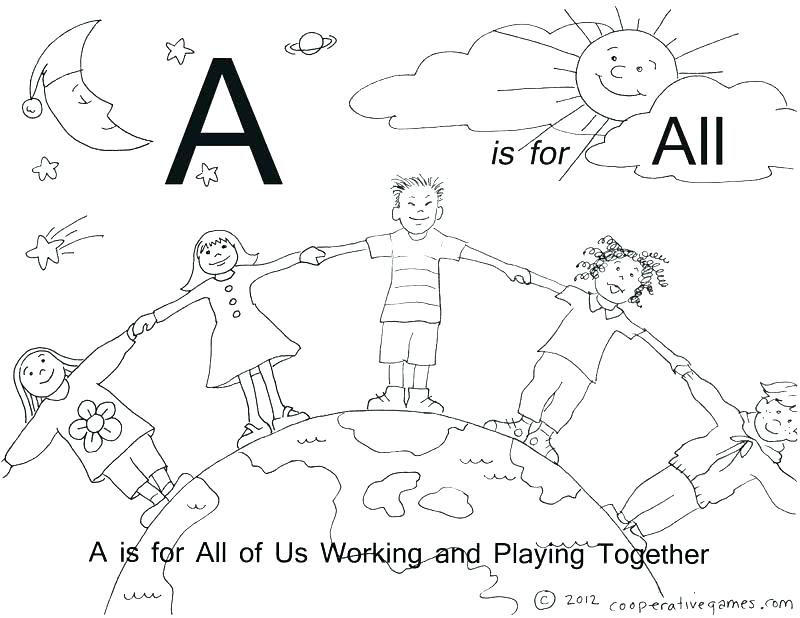800x618 A Coloring Pages Coloring Pages Letters Nice Ideas The Letter