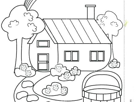 440x330 Gingerbread House Coloring Page Coloring Pages Of Houses House