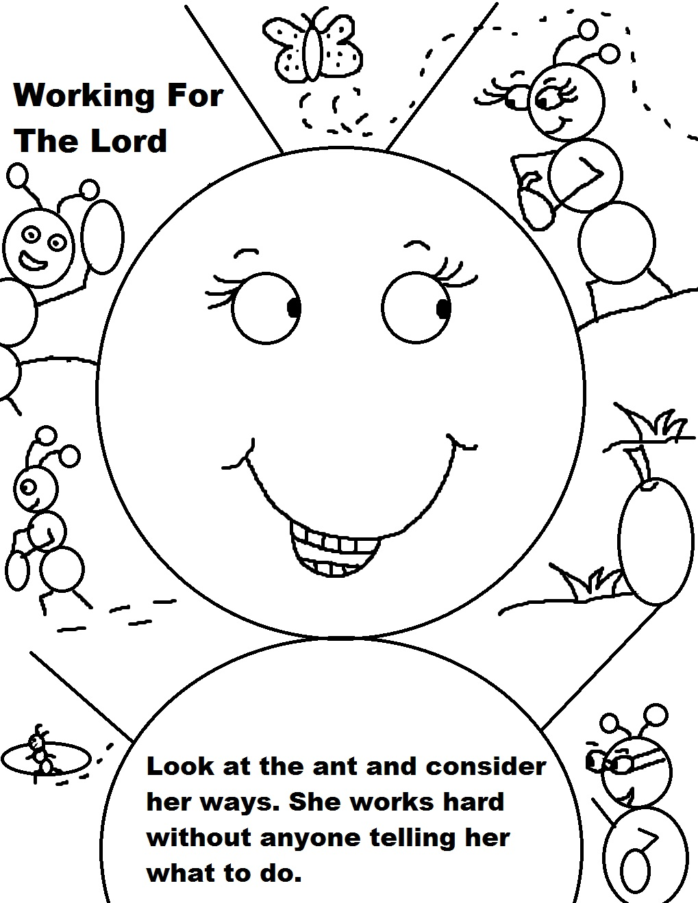 1019x1319 Labor Day Ant Working Coloring Page Coloring Pages