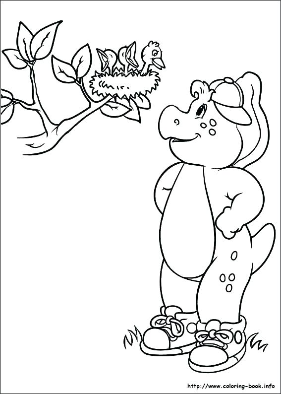 567x794 Barney And Friends Coloring Pages