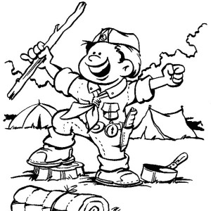 300x300 Boy Scouts Working Together Coloring Pages Boy Scouts Working
