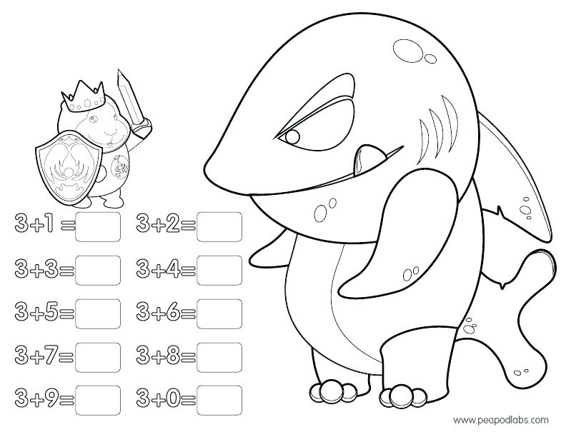 792x612 Subtraction Coloring Pages Color