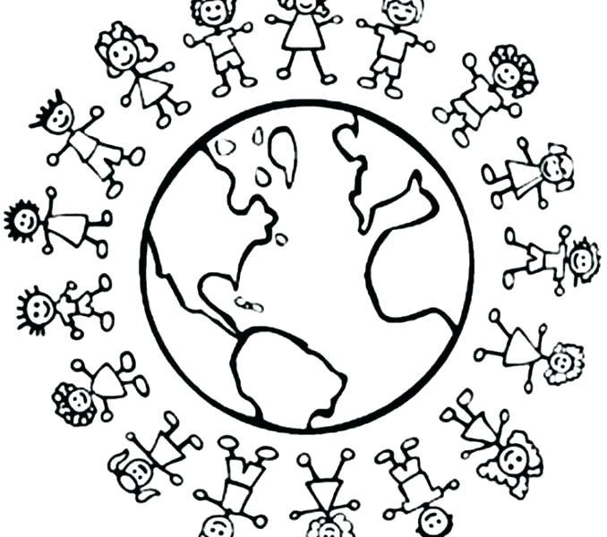 678x600 Children Around World Coloring Pages Excellent Around