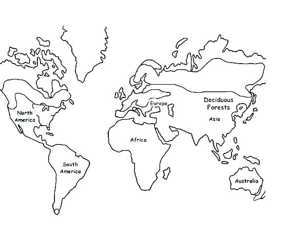 600x464 Printable World Map Coloring Page For Kids World Map Coloring Page