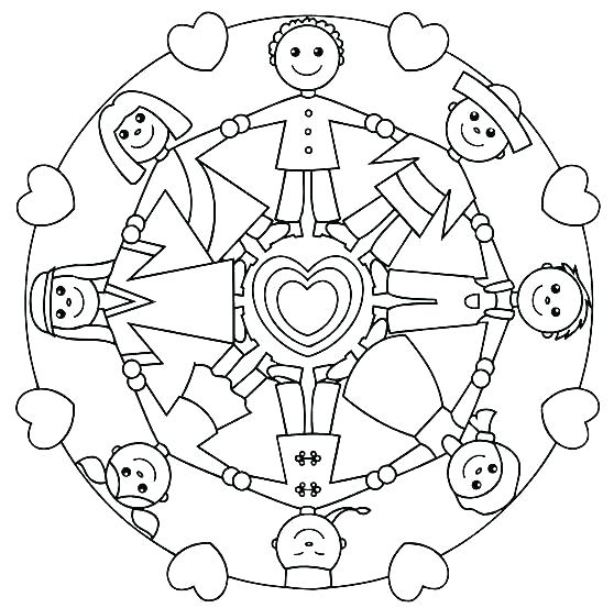 558x553 Children Of The World Coloring Pages Children Of The World