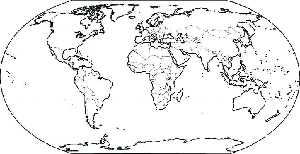 The Best Free World Map Coloring Page Images. Download From 4336 Free  Coloring Pages Of World Map At GetDrawings