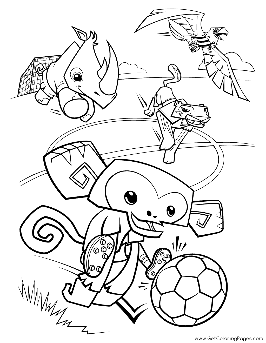 1024x1320 World Cup Coloring Monkey And Rhino