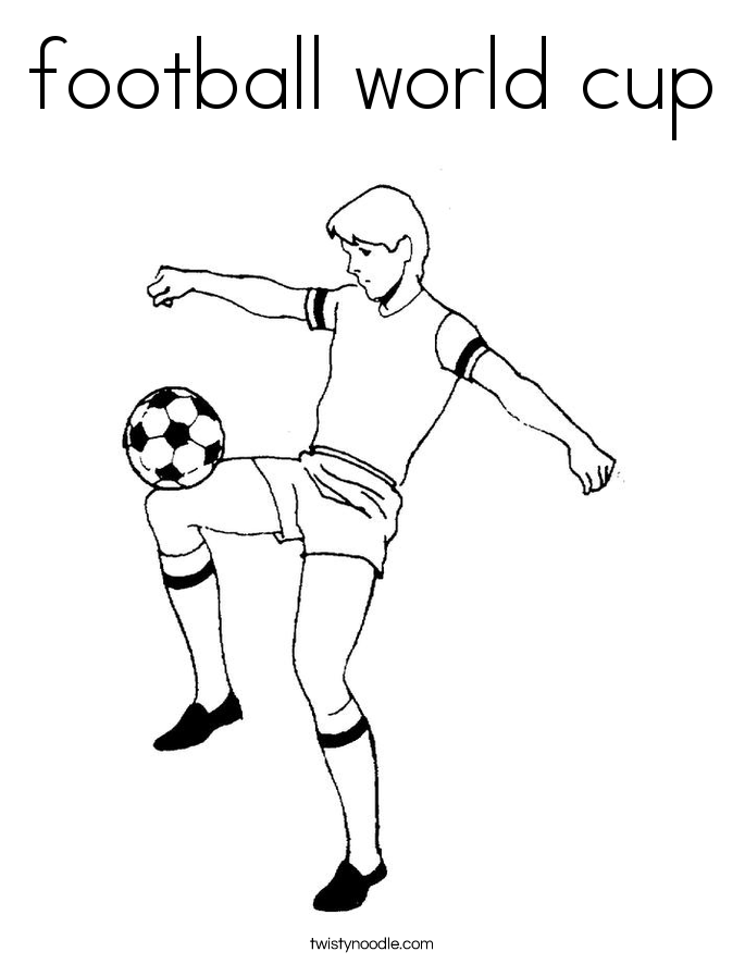 685x886 Football World Cup Coloring Page