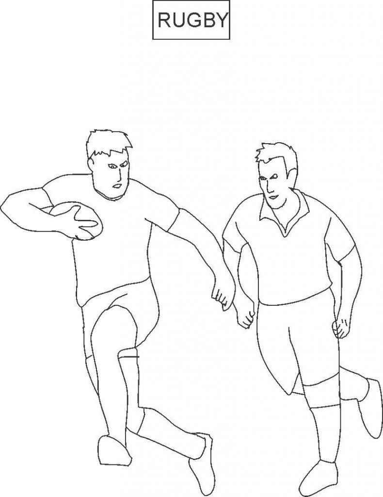 790x1024 Exceptional Rugby Coloring Page For Kids League Colouring Pages