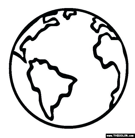 World Globe Coloring Page