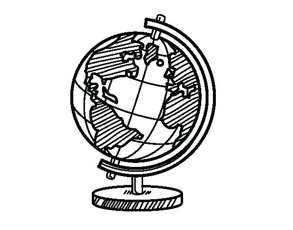 600x470 Globe Coloring Page Globe Coloring Page Printable World Globe