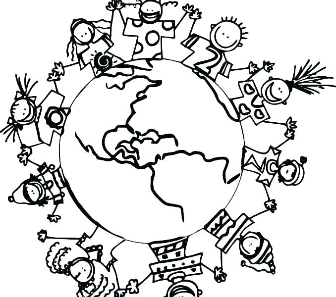 678x600 Globe Coloring Pages Children Of The World Coloring Pages Fresh